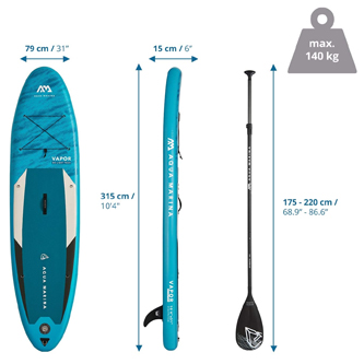 Dimensiones tablas paddle surf